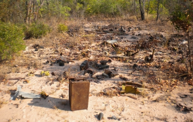 Cuban arms dump outside Cuito Cuanavale