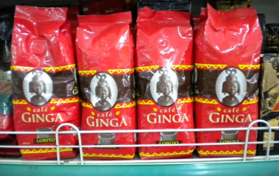 Ginga coffee, Luanda supermarket