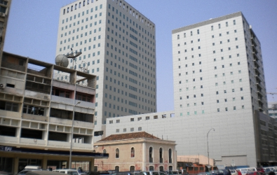 Old buildings hold out Luanda