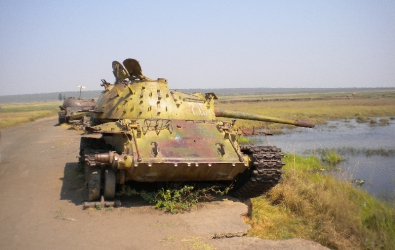 Tank near Menongue