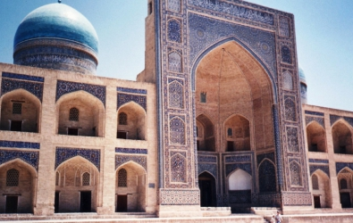 Mir-i-arab madrasah bukhara one of the few islamic colleges in Uzbekistan still in use