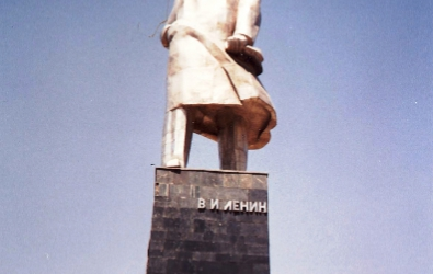The tallest Lenin in the former USSR Khojand, Tajikistan