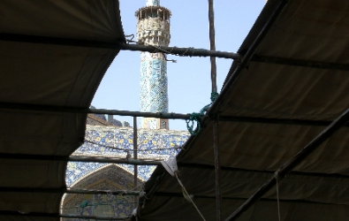The Jameh mosque under cover, Esfahan
